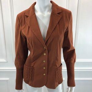 Sundance 10 Blazer Jacket Womens Burnt Orange E2